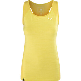 Salewa Pedroc 2 Dry - Camisa sin mangas Mujer - amarillo